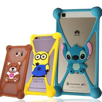 Alcatel Yooyour Pixi 4 Vaka 3D Garfield Minions Kapak Fundas Alcatel Alcatel Fierce XL Minnie Davayı Anti-vurmak Pixi 4