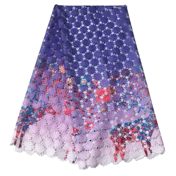 By DHL!multi colour water soluble african cord lace guipure lace fabric for women nice dress