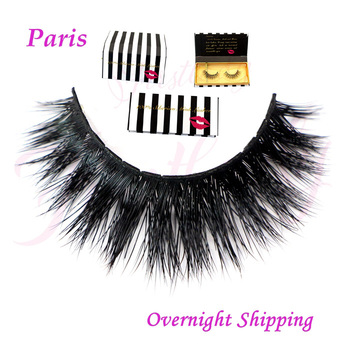In stock top quality real siberian mink false eyelashes,thick fake faux eyelashes with luxury packages