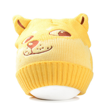 Lovely Animal Doge hat Pullover Knitting Hat Keep Warm Doge Wool Hats Men And Women Unisex Autumn Winter Vent Toy Lovely Gift